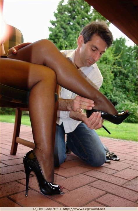 Elegant Mature Woman Teasing In Stockings And High Heels
