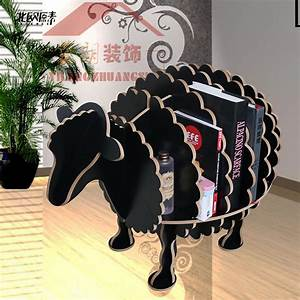scandinavian creative sheep animal shaped wooden shelf With exclusive decoration of book shelf
