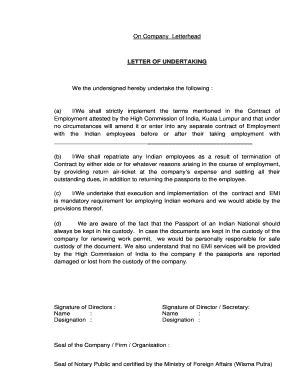 letter  undertaking  school principal fill