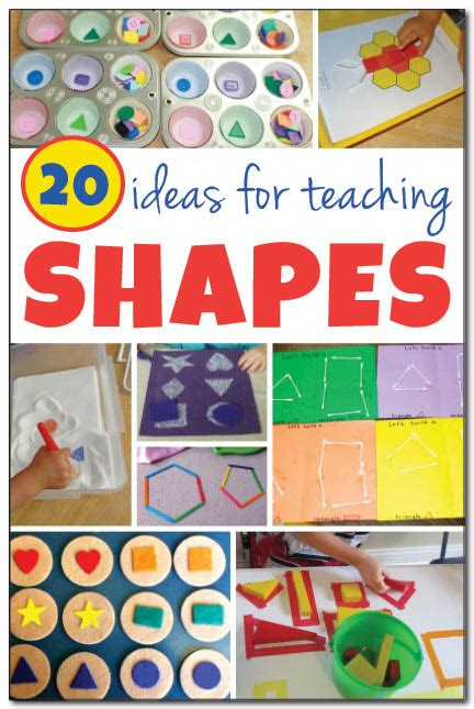 20 ideas for teaching shapes to gift of curiosity 747 | 20 ideas for teaching shapes Gift of Curiosity