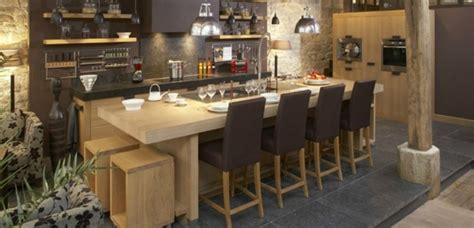 cuisine contemporaine en bois massif cuisine chene massif moderne