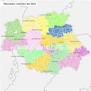Carte Du Gers Détaillée : cantons du gers ~ Maxctalentgroup.com Avis de Voitures