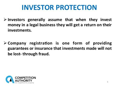 Find out how protective insurance corporation (ptvca) is performing against its competitors. Corporate regsitries investor protection and fair competition