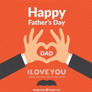 Happy fathers day Vector   Free Download