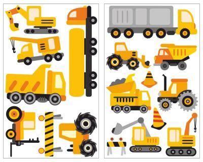 Kinderzimmer Deko Fahrzeuge by 17 Teiliges Baustellen Fahrzeuge Set Wandtattoo