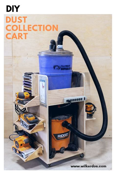 dust collection cart shop vac  separator storage