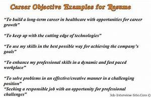 Sample Career Objectives  U2013 Examples For Resumes