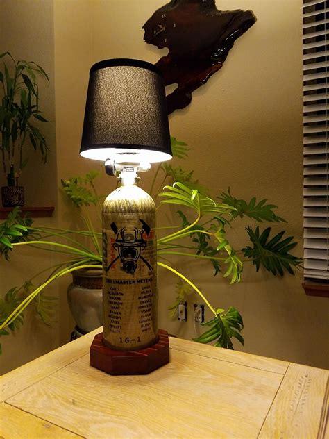 scba bottle lamp     chief   academy