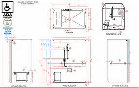 Ada Commercial Bathroom Requirements 2015 by LSS6333A75B One Piece 63 X 34 ADA Compliant Roll In Shower Barr