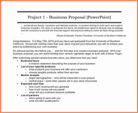 sample  business proposal  project proposal
