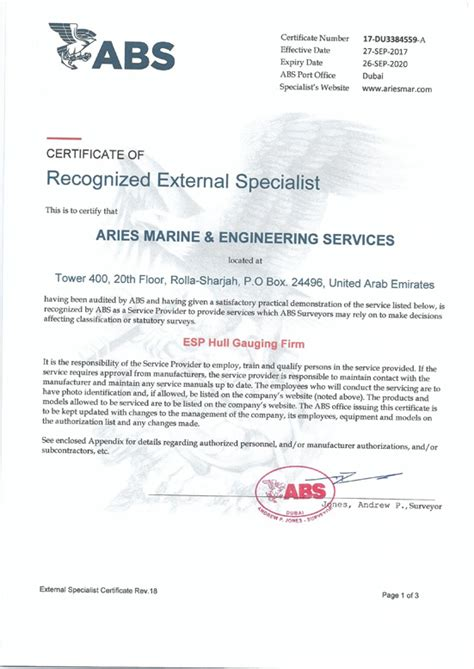 abs bureau of shipping marine certificates approvals of arise marine iso