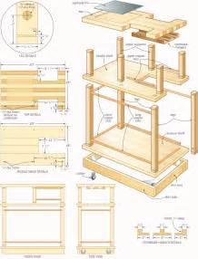 kitchen island rolling cart rolling bar woodworking plans woodshop plans