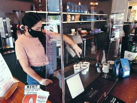 Lunch, dinner, groceries, office supplies, or anything else: Merit Coffee installed sneeze guards at all its locations in San Antonio amid coronavirus pandemic