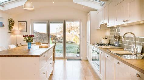 kitchen islands oak white shaker kitchen with wooden worktops burwash east