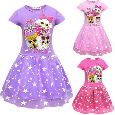 lol surprise dolls dress kids girls layered mesh party