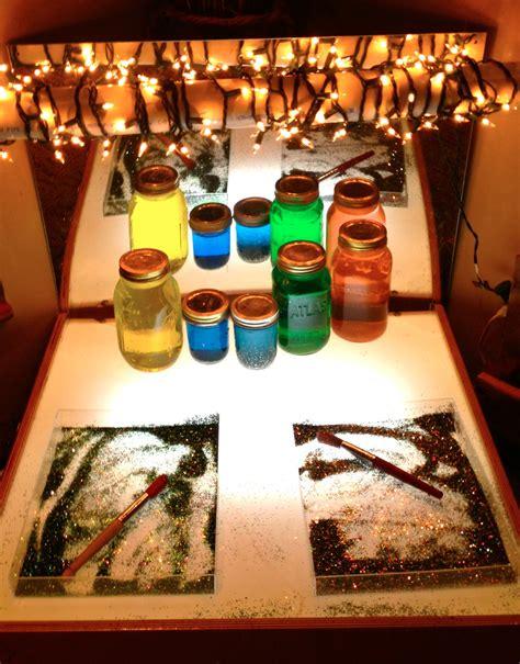 reggio emilia light table reggio inspired color fairy dust teaching
