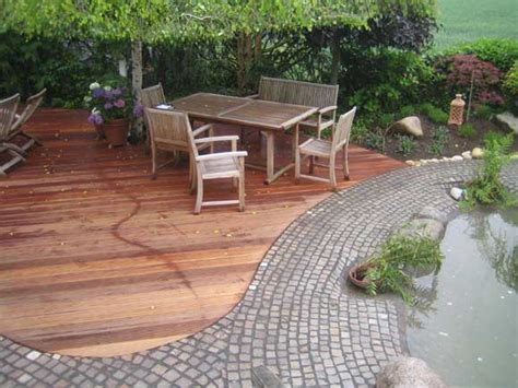 Terrasse Holz Und Stein Kombinieren by Holz Im Garten Axel Seifert Gartengestaltung Mit