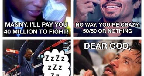 Manny Meme - floyd mayweather releases a christmas card with his thoughts on a manny pacquiao fight