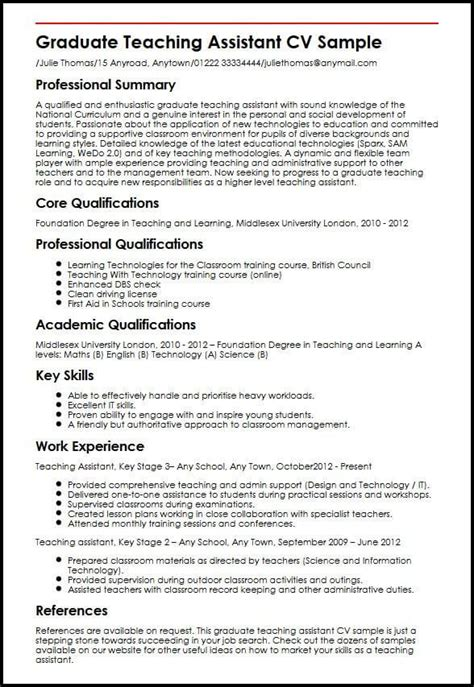 Graduate Cv Template by Cv Template Graduate Student Cv Exles Resume