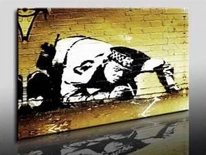 Dreiteilige Bilder Auf Leinwand : banksy graffiti artist stencil art film top 300 bilder auf leinwand leinwandbilder org youtube ~ Orissabook.com Haus und Dekorationen