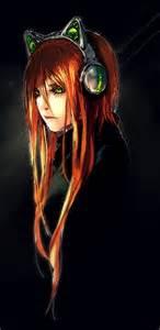 cat ear headphones yuumei fisheye placebo silent musing by yuumei on deviantart
