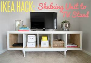 Ikea Kallax Diy : ikea hack shelving unit to tv stand ~ Orissabook.com Haus und Dekorationen