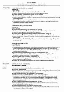 Patient Registration Resume