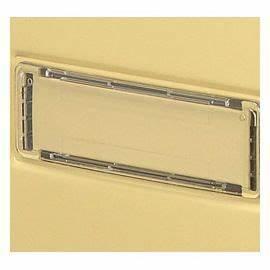 Porte Etiquette Boite Aux Lettres : porte nom 100 x 25 mm castorama ~ Melissatoandfro.com Idées de Décoration