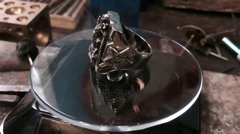 Illuminati Goat by Baphomet Ring Sterling Silver Seal Of Satan Pentagram