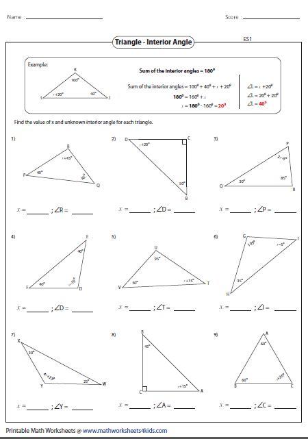 missing interior angles geometria