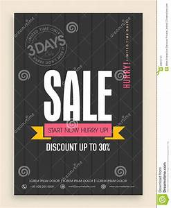 Limited Time Period Sale Flyer Or Banner Design. Stock ...