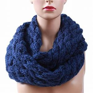 2018 Winter Cable Ring Scarf Women Knitting Infinity ...