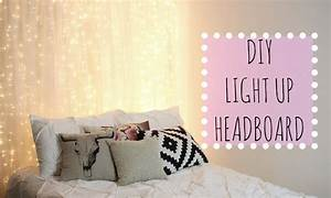 DIY Light Up Headboard! Affordable Room Decor - YouTube