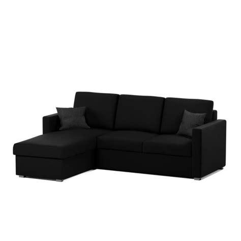 canapé d angle noir cdiscount jules canapé d 39 angle convertible 4 places 220x166 cm