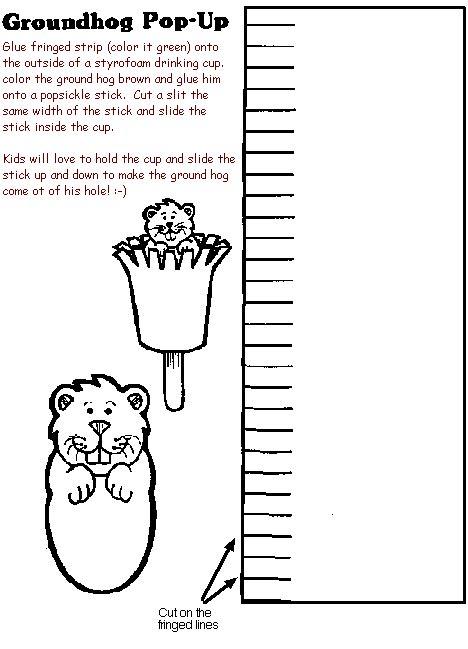 mrs jackson s class website groundhog day crafts 991 | groundhog2craft