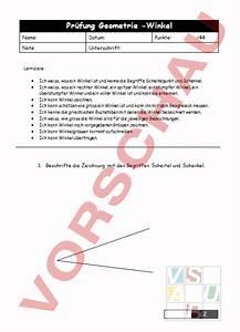 Rechter Winkel Messen : arbeitsblatt pr fung winkel geometrie winkel ~ Frokenaadalensverden.com Haus und Dekorationen