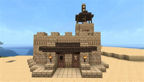 Small Fortified Desert House Minecraft Project