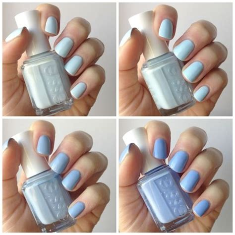 essie light blue essie pale blue comparison find me an oasis borrowed