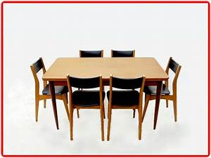 table et chaises salle a manger vintage annees 1970 With salle a manger 1970