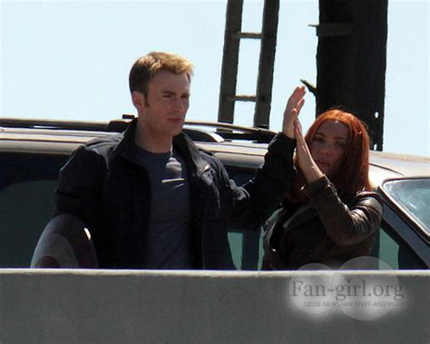 emily bett rickards chris evans news new captain america the winter soldier set pics