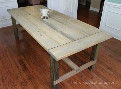 Ana White Building Kitchen Cabinets by Diy Farmhouse Table For Less Than 100 The Turquoise Home