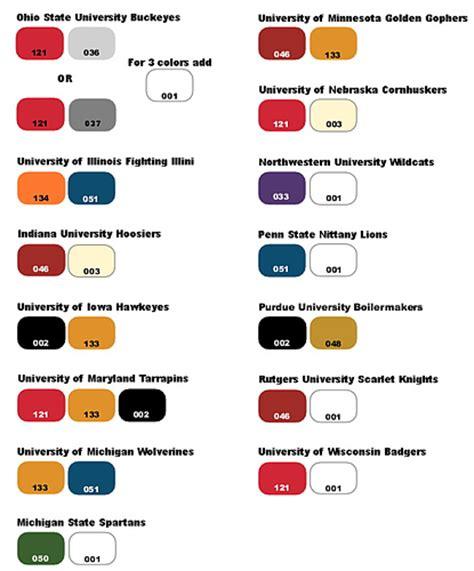 college colors tempting tidbits