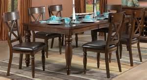 Kingstown 7Piece Dining Room Set  Chocolate  Leon39s