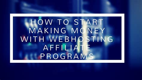 How To Make Money Online With Web Hosting Affiliate ...
