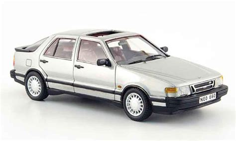 Saab 9000 Turbo Gray 1988 Neo Diecast Model Car 1/43
