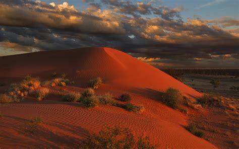 simpson desert large area  dry red sandy plain
