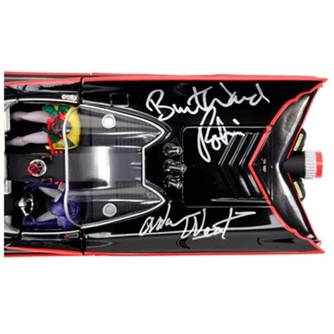 Original Batmobile Autographed By lot detail adam west and burt ward autographed 1 18