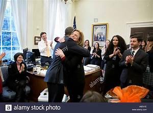 U.S. President Barack Obama hugs White House ...