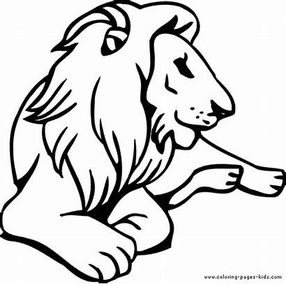 Lion Clipart Clip Coloring Pages Down Lying