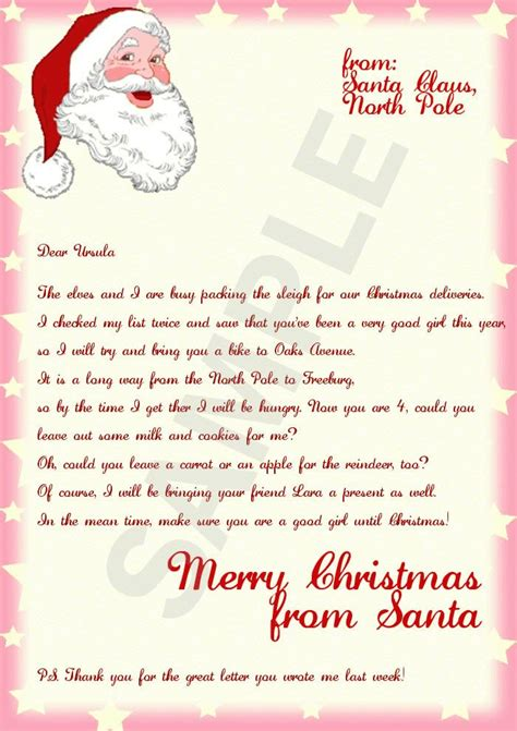 letter  santa stationary template bing images mary